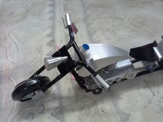 Tin can model chopper motorcycle made by Ahmed Saleem