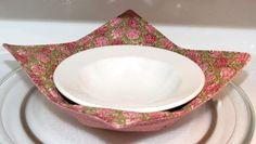 Reversible Bowl Cozy Microwave Pot Holder Pink and by MiniMade