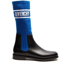 Givenchy Storm ribbed-knit chelsea boots (7.171.020 IDR) ❤ liked on Polyvore featuring shoes, boots, ankle booties, black blue, chelsea bootie, chelsea boots, beatle boots, chelsea ankle boots and givenchy booties