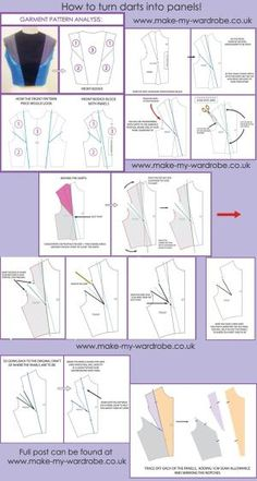 How to get rid of darts and turn them into interesting panels on the bodice block!  For more tutorials and information about pattern cutting and making, go to  www.make-my-wardrobe.co.uk  Make your own fashion,  and design the way you want :) by antoinette
