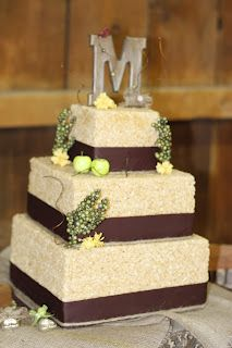 Rice Crispy Wedding Cake! made by my sister for me!