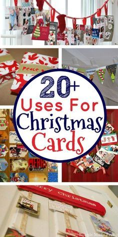For those of you that like to keep holiday cards, here are 20 things to do with Christmas cards. What to do with old Christmas cards, uses for Christmas cards, upcycle Christmas cards