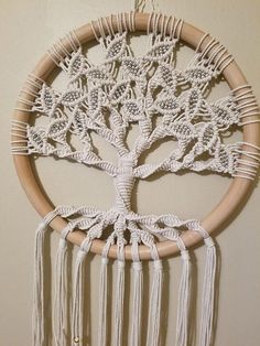 Tree of Life / Large Macrame Wall Hanging / Circle Art / Woven Wall Hanging / Macrame Art / Wall Decor / Yoga Decor / Macrame Circle / Zen - Tree of Life / Large Macramé Wall Tapestry / Circle Art / Macrame Design, Macrame Art, Macrame Projects, Macrame Knots, Micro Macrame, Yoga Dekor, Art Macramé, Diy Wanddekorationen, Large Macrame Wall Hanging