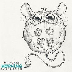 makes monsters and stuff Cute Monsters Drawings, Cartoon Monsters, Little Monsters, Cartoon Drawings, Animal Drawings, Cartoon Art, Cute Drawings, Drawing Artist, Drawing Sketches