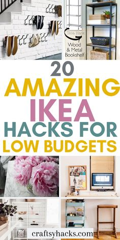Want to decorate home and get some decor inspiration but have low budget? Try these ikea hacks and use ikea furniture to transform your home. hacks bathroom diy projects 20 Amazing Ikea Hacks to Decorate on a Lower Budget Bathroom Hacks, Ikea Bathroom, Bathroom Ideas, Small Bathroom, Ikea Furniture Hacks, Furniture Makeover, Ikea Makeover, Furniture Ideas, Furniture Removal