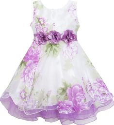 online shopping for Sunny Fashion Girls Dress Tulle Bridal Lace With Flower Detailing Purple from top store. See new offer for Sunny Fashion Girls Dress Tulle Bridal Lace With Flower Detailing Purple Girls Dress Up, Wedding Dresses For Girls, Wedding Party Dresses, Toddler Flower Girls, Lace Flower Girls, Flower Girl Dresses, Tulle Wedding Gown, Bridal Lace, Little Girl Tutu