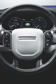 Range Rover Sport SVR heated leather steering wheel with carbon fibre - Best Luxury Cars Luxury Car Brands, Best Luxury Cars, Luxury Suv, Maserati, Lamborghini, Range Rover Car, Range Rover Evoque, Range Rovers, Dream Cars