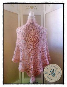 Powder crochet SBS shawlette by ManoFactured on Etsy