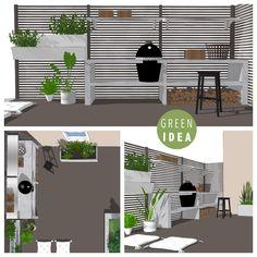 Outdoor kitchen plan, Designed by Green Idea Outdoor Kitchen Plans, The Hague, Green Eggs, Helsinki, Service Design, Landscape Design, This Is Us, Studio, Garden