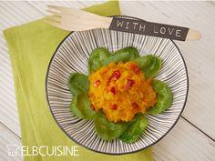 Geniales Mango-Kürbis-Püree mit Chili-Öl #mango #kürbis #püree #withlove #lecker #elbcuisine