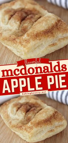 Who can resist a classic Mcdonald's apple pie? Now make one at home with this easy to make sweet treat. Savor the flavorful apples in a flaky crust with this homemade easy dessert idea. This is the perfect fall dessert! Best Easy Dessert Recipes, Easy Pie Recipes, Desserts For A Crowd, Homemade Cake Recipes, Apple Pie Recipes, Homemade Pie, Donut Recipes, Pastry Recipes, Tart Recipes