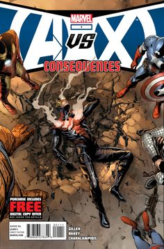 Marvel Reveals Cover To Avengers Vs. X-Men: Consequences #1 | Graphic Policy: Cyclops tossed in private jail and Wolverine/Storm get kicked out of Wakanda.