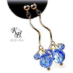 Birthstone Earrings, Sterling Silver Earrings, Crystal Earrings, Bridal Earrings, Bridesmaid Earrings, Bridesmaid Jewelry, Wedding Jewelry | KyKy's Bridal, Handmade Bridal Jewelry, Wedding Jewelry