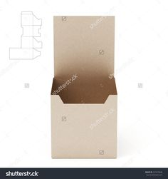 Tall Counter Display Box With Die Line Template Stock Photo 327419648 : Shutterstock
