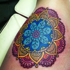 I heart tattoo's tattoos mandala, colorful mandala tattoo, small mandala tattoo, lotus tattoo Colorful Mandala Tattoo, Dotwork Tattoo Mandala, Lotus Tattoo, Coloured Mandala, Lotus Mandala, Body Art Tattoos, New Tattoos, Cool Tattoos, Heart Tattoos