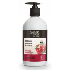 This Organic Shop Rose & Peach Nourishing Hand Soap has delicious, subtle fragrance and works to nourish hands as it gently washes away dirt and grime. Organic Roses, Organic Soap, Granada, Rose Soap, Prunus, Rose Water, Body Wash, Pomegranate, Deodorant
