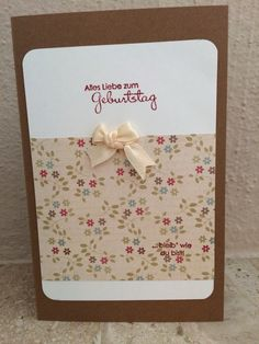 Geburtstagskarte Stampin Up, Container, Birth, Cards, Stamping Up, Canisters