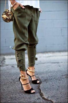 militarne spodnie