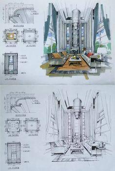 松本若菜下载,室内设计手绘马克笔上色快题分析图解