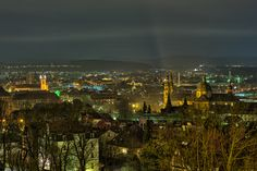 Fulda am Abend - Fotografiert vom Frauenberg.