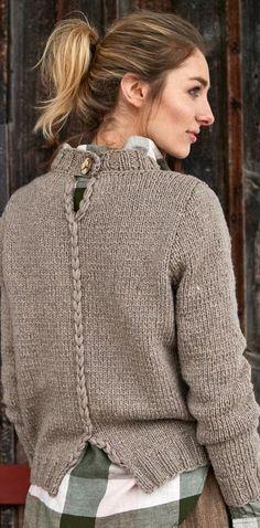 Knitting cardigan diy yarns 48 Ideas for 2019 Crochet Pullover Pattern, Sweater Knitting Patterns, Knit Crochet, Crochet Patterns, Knitting Ideas, Cardigan Fashion, Knit Cardigan, Knitwear, Creations
