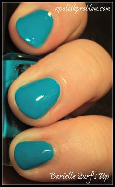 Love this color!  Barielle Surf's Up via apolishproblem.com