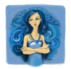 Big Blue | Otherwise the Same by Hajna Disney Characters, Fictional Characters, Aurora Sleeping Beauty, Disney Princess, Big, Illustrations, Illustration, Fantasy Characters, Disney Princesses