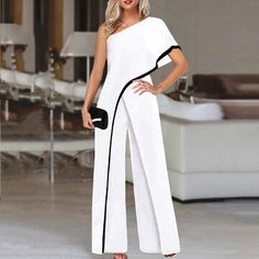 Veveeye Lulu Fashion, Womens Fashion, Style Fashion, Off Shoulder Bridesmaid Dress, Jumpsuit With Sleeves, Jumpsuits For Women, Fashion Jumpsuits, Latest Fashion Clothes, Casual Chic