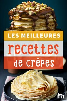 Our selection of best crepe recipes for Candlemas or for snacks taste Best Crepe Recipe, Crepe Recipes, Taco Wraps, Best Pancake Recipe, Pancake Recipes, Snacks, Sweet Recipes, Pancakes, Meal Planning