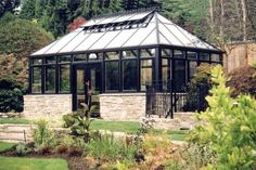 Water and Lighting in a Greenhouse   Landscaping Ideas and Hardscape Design   HGTV