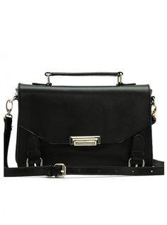 Black Messenger Satchels Bag With Print$50.00