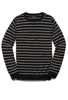 I find myself wearing a lot of menswear lately | Marled Stripe Cotton Sweater