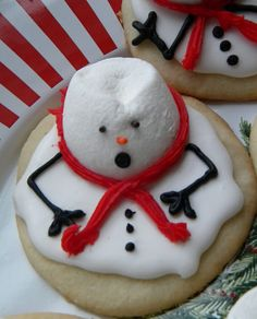 I love these Melted Snowman Cookies. They are perfect to make with kids for class treats!