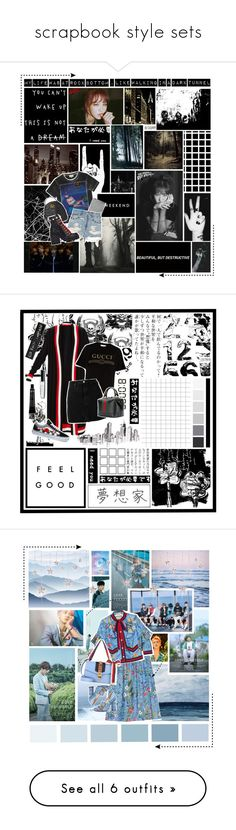 """""""scrapbook style sets"""" by jamz04fire ❤ liked on Polyvore featuring Avenue, Trademark Fine Art, Gucci, ASOS, IRO, Vans, RIPNDIP, Leah Flores, York Wallcoverings and art"""
