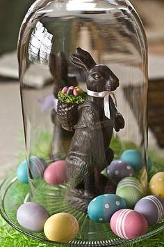 Cloche Eggs & Rabbit