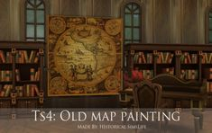 History Lover's Sims Blog: Old Map Paintings • Sims 4 Downloads