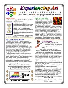 Digication e-Portfolio :: W. Scott Russell :: Classroom Management--Great Idea for a newsletter to send home at the beginning of the year or post to school art page