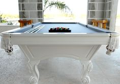 pool table: gorgeous pool table makeover from design*sponge