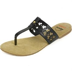 74ee26ae501a44 Alpine Swiss Womens Black Suede Lined Cutout TStrap Flip Flop Thong Sandals  7 M US     Visit the image link more details.