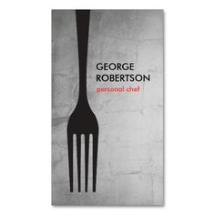 206 best catering business cards images on pinterest in 2018 big fork logo iii for chef catering restaurant business card reheart Gallery