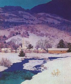Christmas Eve  Maxfield Parrish
