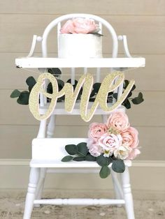 Gold birthday decorations - WILD ONE High Chair Banner Girl Birthday Party Pink and Gold Color Theme ONE Cake Topper and Glitter Gold Birthday Decorations – Gold birthday decorations 1st Birthday Party For Girls, Gold First Birthday, Girl Birthday Themes, First Birthday Banners, Birthday Party Decorations, Birthday Ideas, Shabby Chic Birthday Party Ideas, Birthday Chair, Farm Birthday