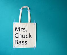"Jutebeutel ""Mrs Chuck Bass"" // printed tote bag by invisiblecrown via DaWanda.com"