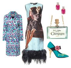 karen turquoise by connielioness on Polyvore featuring Prada and Emilio Pucci