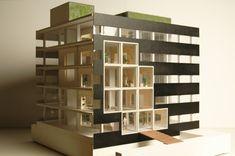 Lucent Hilversum presentation model / scale. 1:50 / materials. mdf, cardboard, paper, plastic sheet, 3D print (FFF), diverse materials architect. Studioninedots / associates. Georgina Ferrer 2014