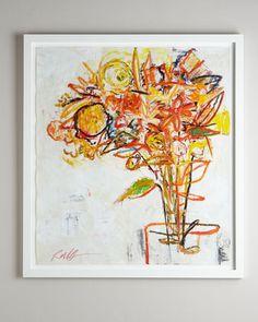 """Flowers"" Giclee by Rosenbaum Fine Art at Horchow."
