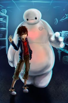 Hiro and Baymax. by ProtoRC on deviantART