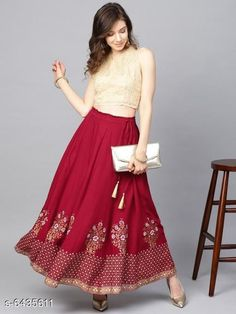 Skirts Stylish printed Women's Skirts Fabric: Net Pattern: Embellished Multipack: 1 Sizes:  Free Size (Waist Size: 28 in, Length Size: 40 in) Country of Origin: India Sizes Available: Free Size, 30, 32, 34, 36, 38, 40, 42, 44   Catalog Rating: ★4 (3230)  Catalog Name: Women Western Skirts CatalogID_1023967 C79-SC1040 Code: 562-6435611-885