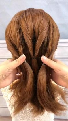Easy Hairstyles For Long Hair, Braids For Long Hair, Prom Hairstyles, Medium Hair Styles, Curly Hair Styles, Hair Upstyles, Hair Due, Great Hair, Hair Videos