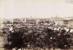 II. János Pál pápa (akkori Új Vásár) tér. A felvétel 1895 után készült